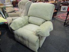 A modern electric reclining armchair