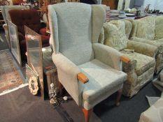 An HSL wingback fireside armchair