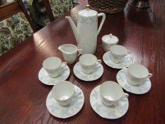 A German ceramic coffee set,