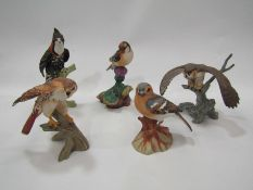 Two boxes of boxed ceramic bird figures