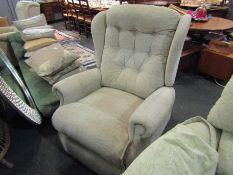 A modern electric reclining armchair,