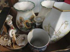 A Wedgwood vase, two vases,