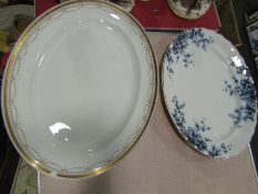 Two Victorian meat plates a/f
