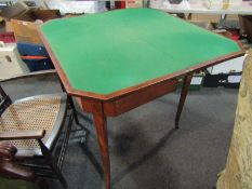 A 19th Century flame mahogany card table,