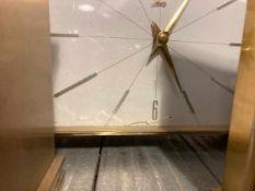 Four timepieces including 1960's Metamec and carriage clock