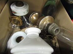 A box of oil lamps,