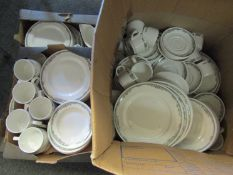 A large quantity of Royal Doulton Hotel Porcelain ceramics/dinner wares