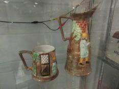 A Radford pottery pitcher Tavern ware jug, no.