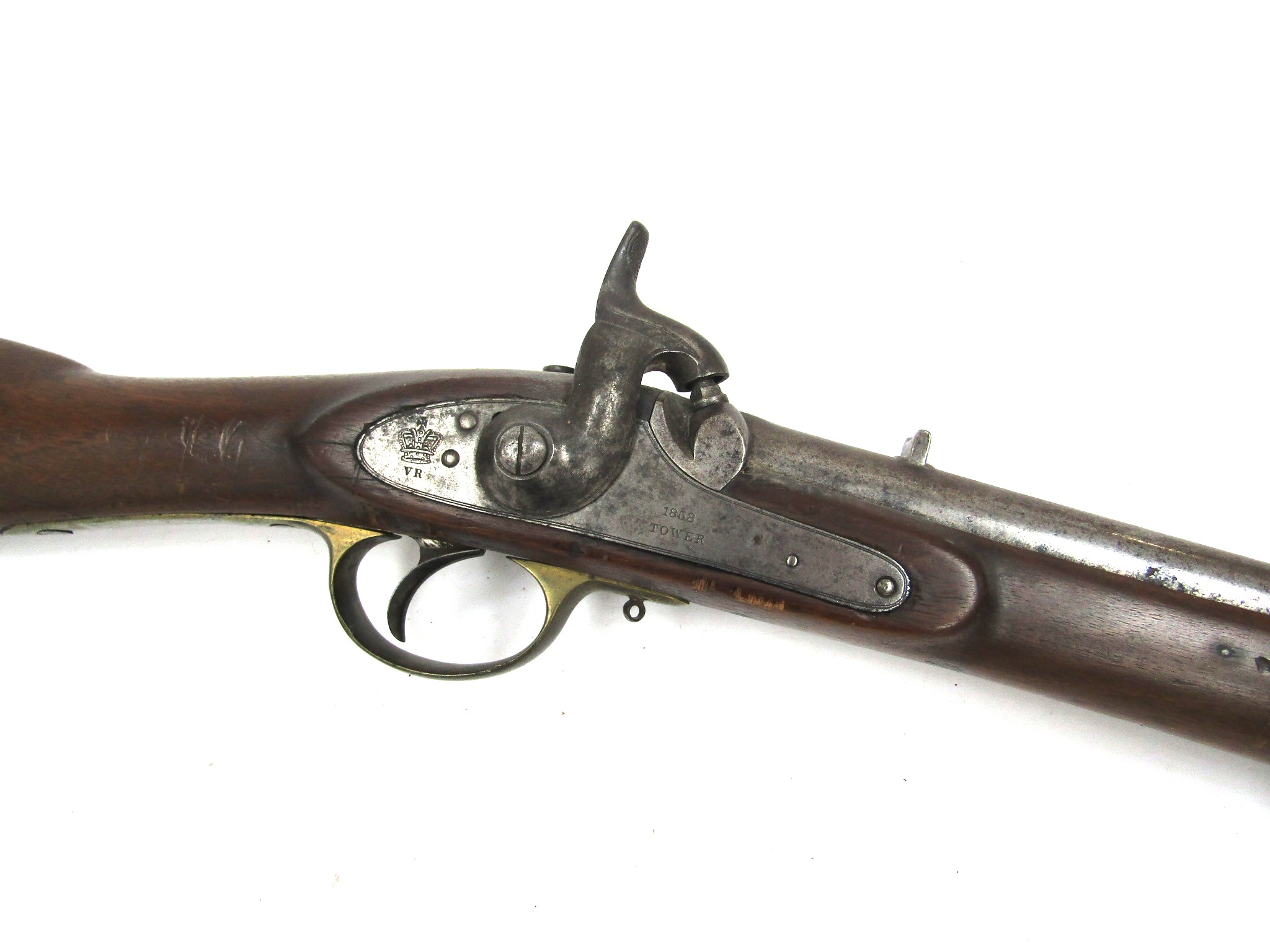 A Victorian East India percussion cavalry carbine,