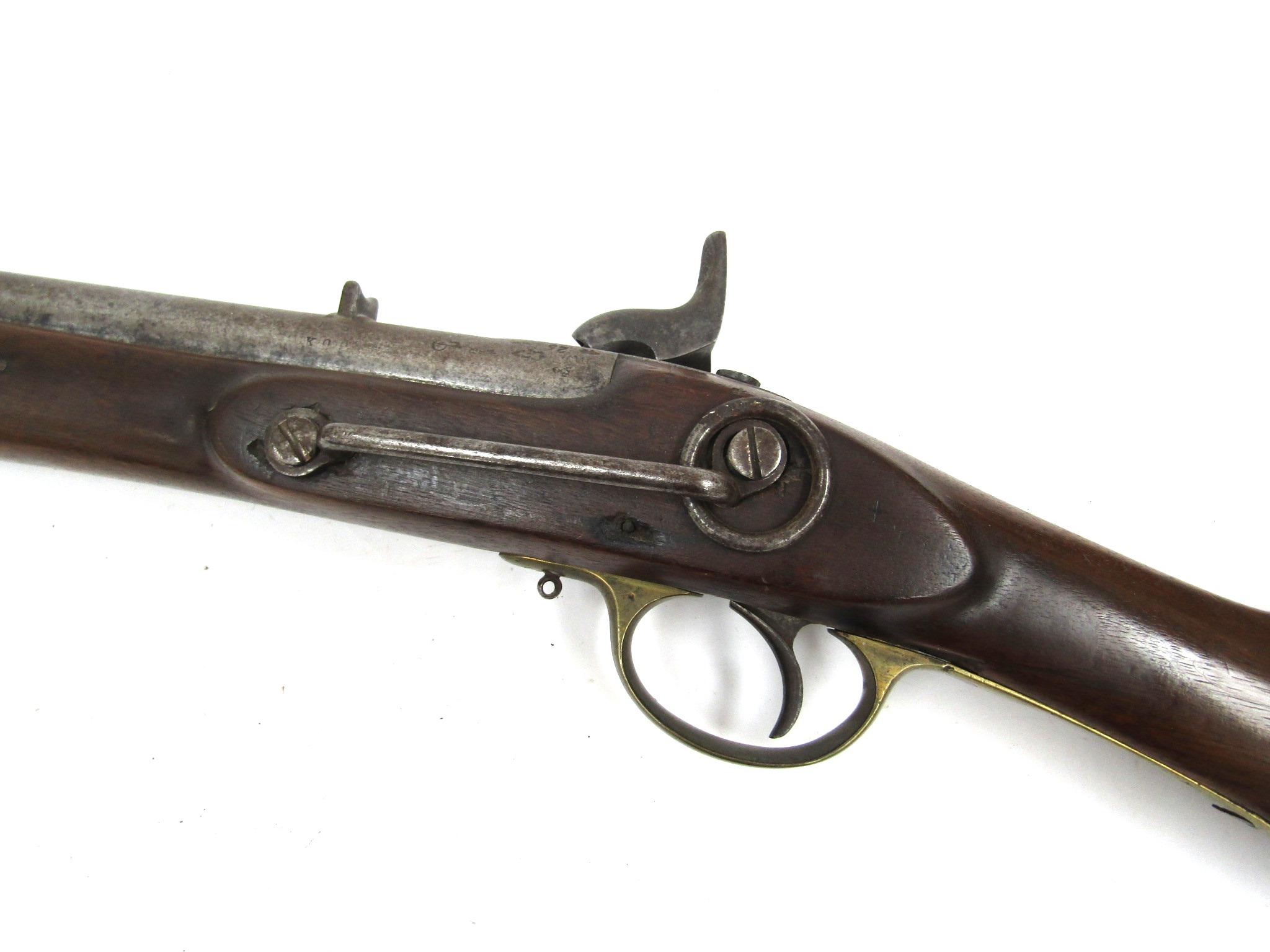 A Victorian East India percussion cavalry carbine, - Image 4 of 5