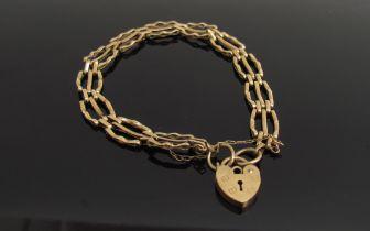 A 9ct gold fancy link bracelet,