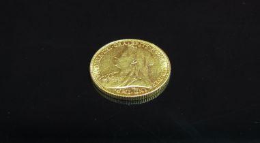 An 1899 gold sovereign