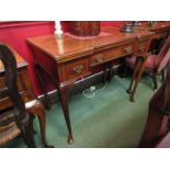 A 19th Century Maple & Co break front walnut games table with inlaid chevron crossbanding,