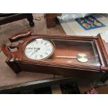 A London Clock Company drop dial wall clock,