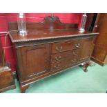 An early 20th Century mahogany sideboard,