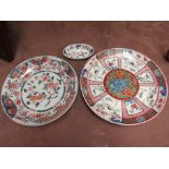 An Imari wall plate (a/f - small chip to rim),