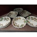 """A quantity of early 20th Century Ridgways """"Vine"""" design table wares including dessert plates,"""