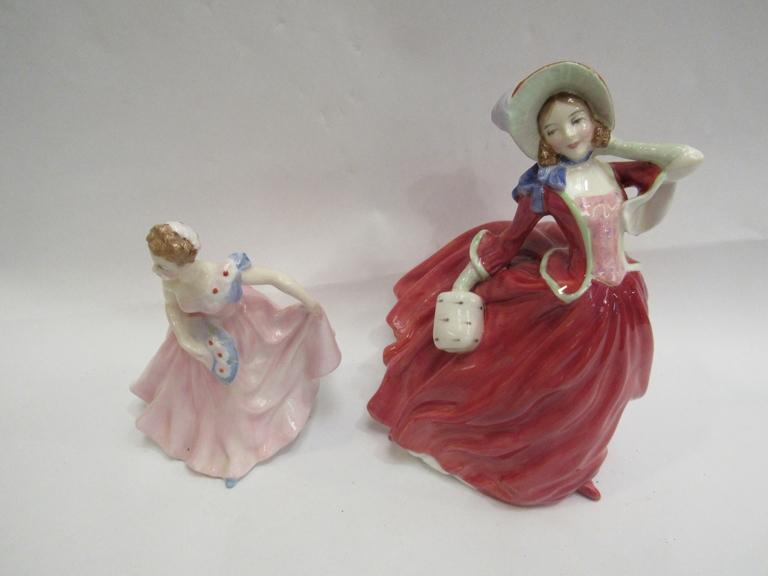 "Two Royal Doulton ladies - ""Autumn Breezes"" and ""Invitation"","