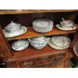 Booths Springtime tureens and plates