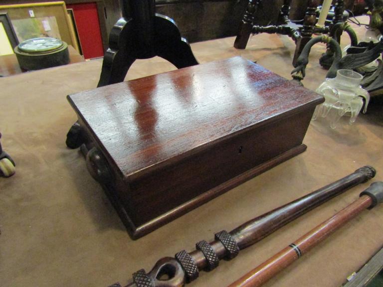 A Victorian knife box