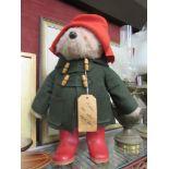 A Paddington Bear soft toy