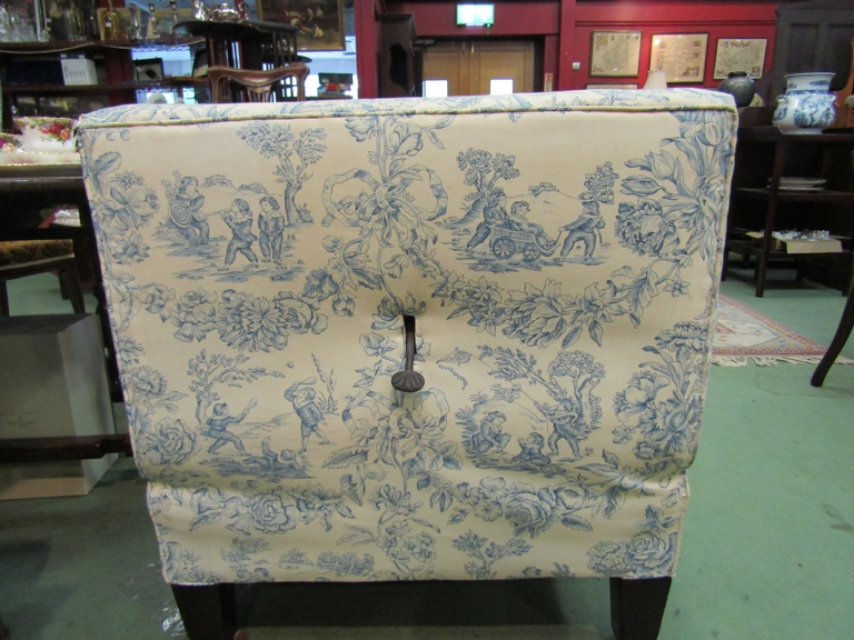 A Howards' style late Victorian reclining day bed with Trompe L'oeil upholstery, - Image 3 of 3