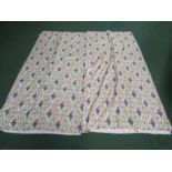 A pair of French cotton curtains,