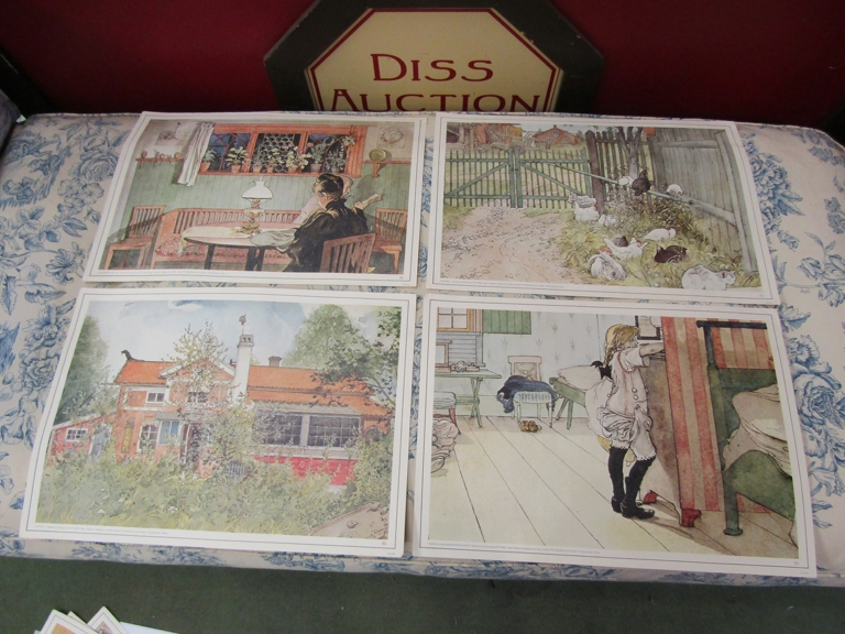 After Carl Larsson, a folio of prints of family life. - Image 2 of 3