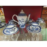 A Booth's Real Old Willow Royal Doulton coffee set