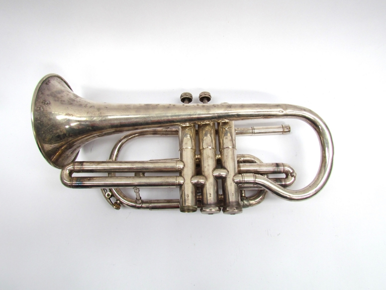 A Clippertone silver plated Cornet, - Image 2 of 3