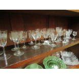 A collection of Edwardian liqueur glasses