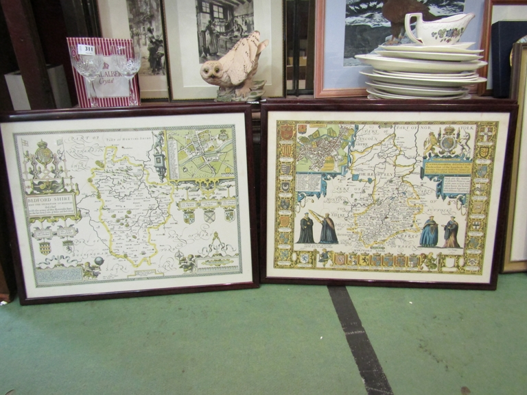 A series of reproduction maps including Norfolk (4),