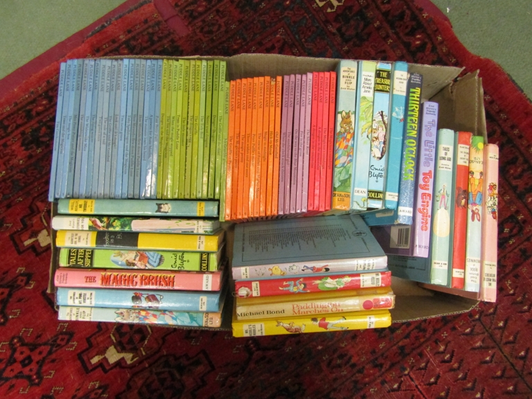 A box of Puddle Lane and other children's books