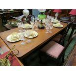 An oak refectory table ,