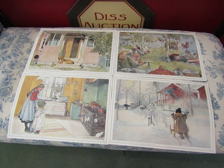 After Carl Larsson, a folio of prints of family life. - Image 3 of 3