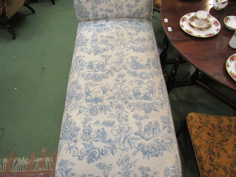 A Howards' style late Victorian reclining day bed with Trompe L'oeil upholstery, - Image 2 of 3