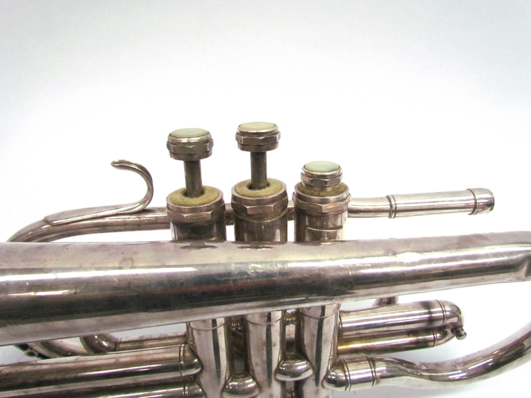 A Clippertone silver plated Cornet, - Image 3 of 3