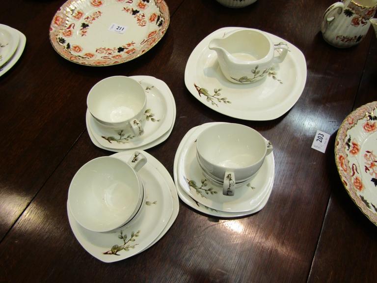 Midwinter Hazel pattern tea wares