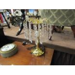 A table chandelier and a matching standard lamp,