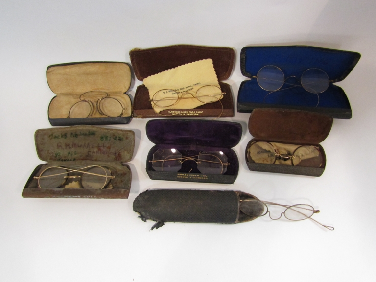 A box of mixed cased spectacles