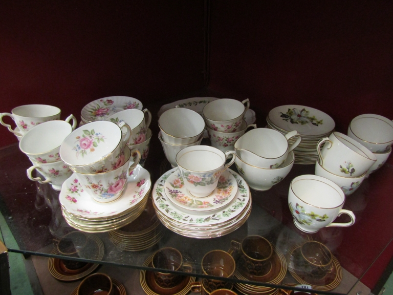 Mixed tea wares including Duchess and Colclough