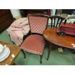 A pair of Victorian mahogany shaped back side chairs