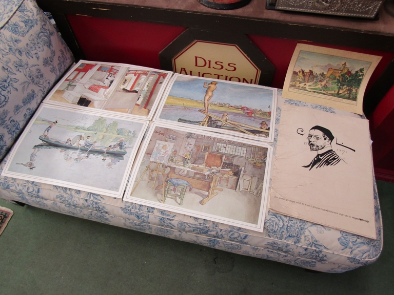 After Carl Larsson, a folio of prints of family life.