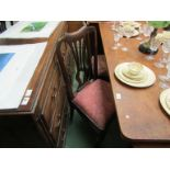 Three 18th Century George II chairs with wheat ear splat,