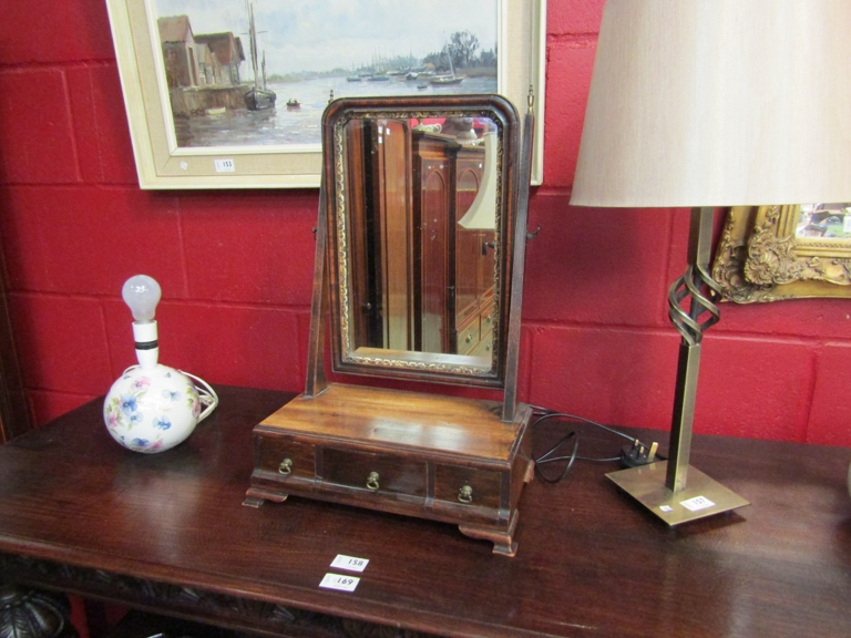 A 19th Century mahogany dressing table mirror with 3 jewellery drawers,