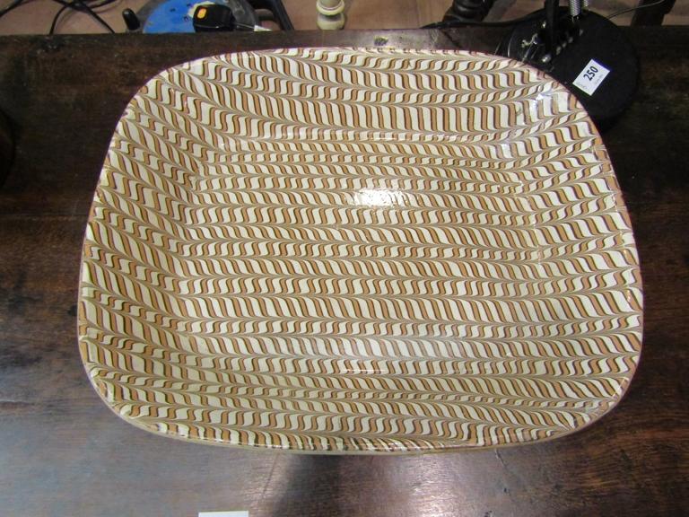 A slipware dish,