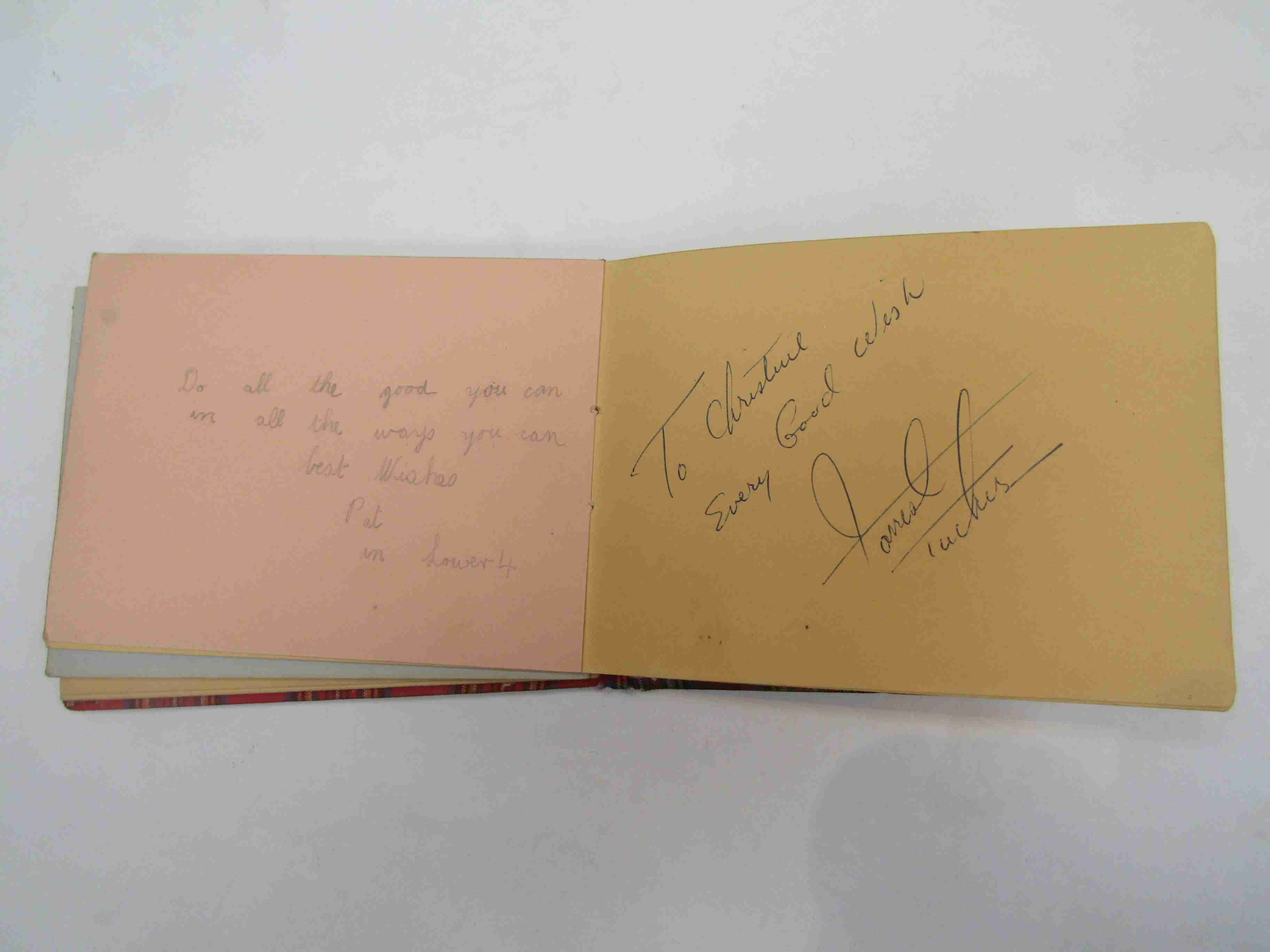 Two 1950s/60s autograph books containing autographs by Benny Hill, Honor Blackman, Barbara Shelley, - Image 31 of 34