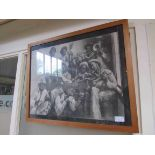 A framed and glazed print of an American jazz group
