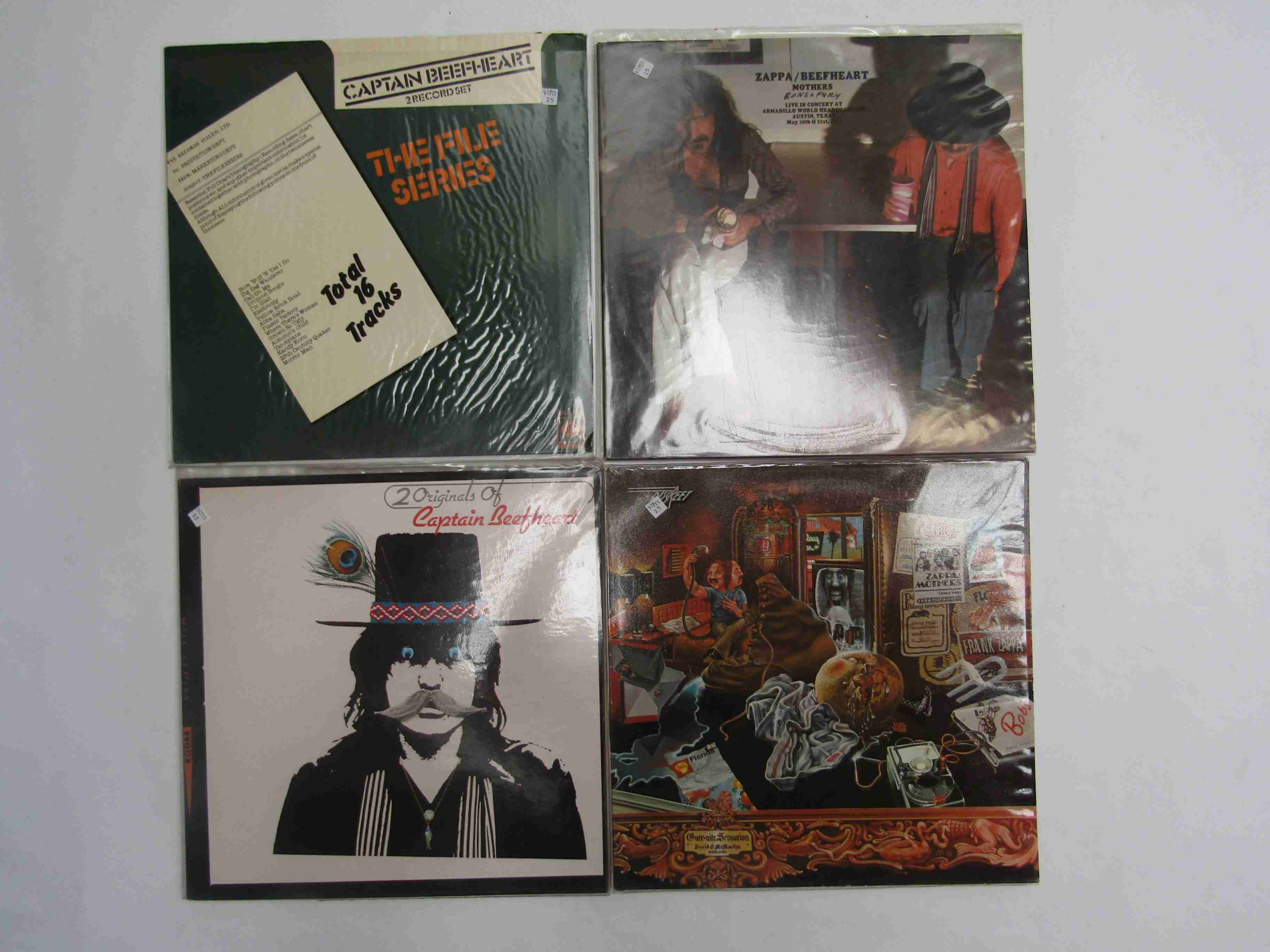 Four assorted Frank Zappa and captain Beefheart LPs to include 'Over-nite Sensation',