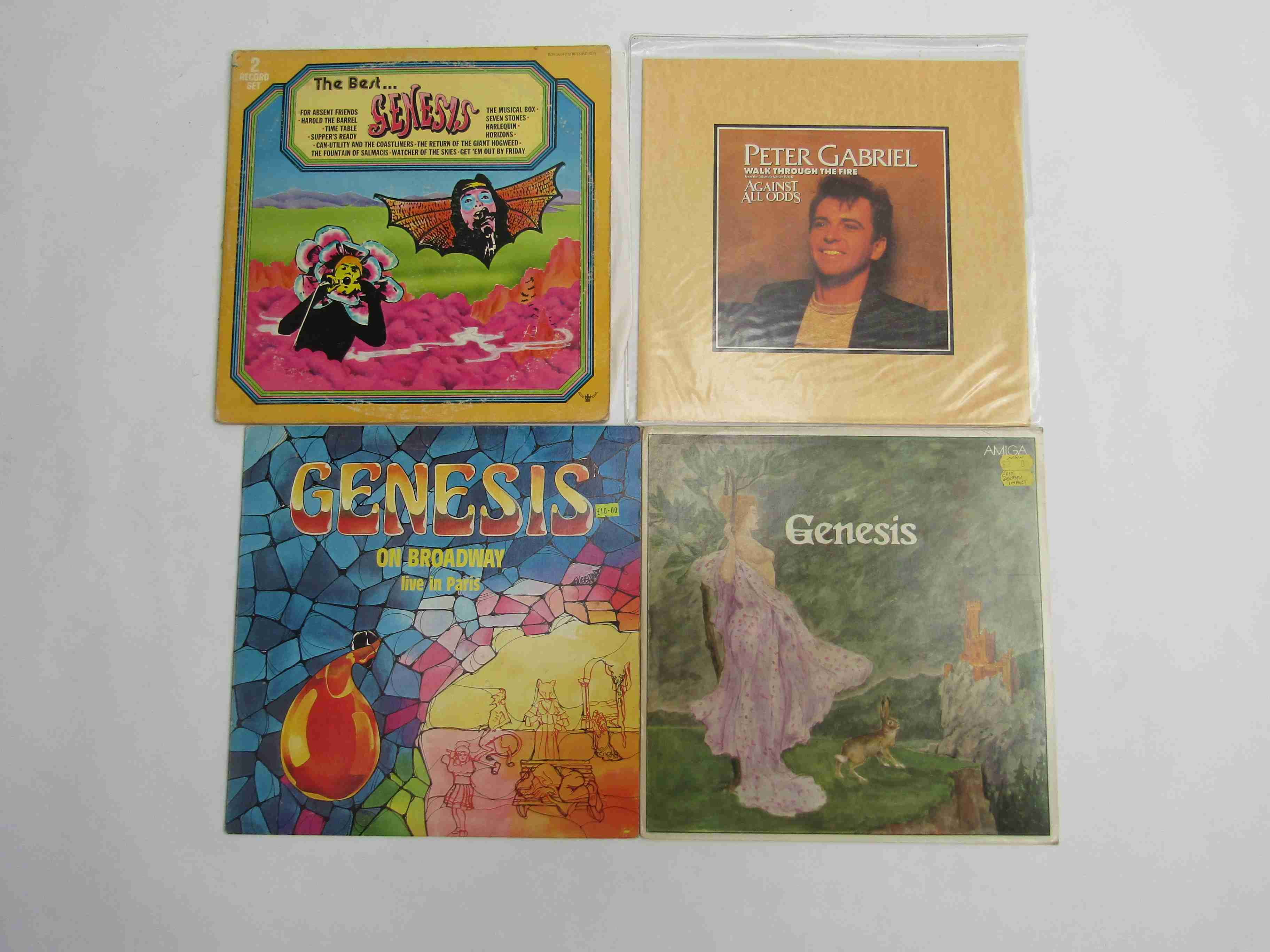GENESIS: Two unofficial release LP's to include 'Genesis' 8 55 40 and 'On Broadway Live In Paris'